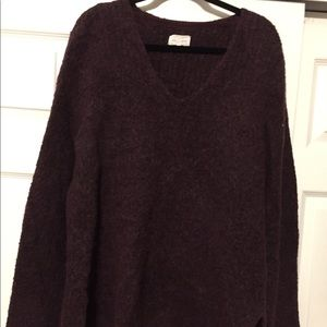Size XL Loft Lou&Grey Maroon Split Side Sweater